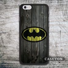 Batman On Wood Case For iPhone 7 6 6s Plus 5 5s SE 5c 4 4s and For iPod 5 Vintage Protective Cover Drop Shipping
