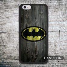 Batman On Wood font b Case b font For font b iPhone b font 7 6