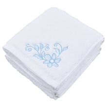 Sinland Flower Embroidered Hand Towel Extra Absorbent Fingertip Towels 100% Cotton For Bathroom & Kitchen White 14 Inchx28 Inch(China)
