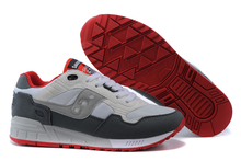 Hot Sale Saucony Shadow 5000 Women's Shoes,High Quality Retro Women's Shoes Sneakers Dark Grey/Grey/Red Color Size 36-39(China)