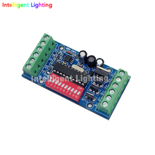 Mini DMX 3CH V1 easy dmx controller decoder controller LED RGB dump node for led light(China)