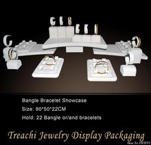2015 Super Deal Sale Advanced Jewelry 22 PCS setting Beige Velvet Jewelry Display Showcase for Bangle Bracelet Holder Free EMS