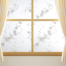 New Sweet 45x100cm Frosted Privacy Cover Glass Window Door Plum Flower Sticker Film Adhesive Home Office Decor