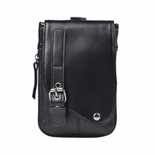 New PU Leather Cell Mobile Phone Case Small Messenger Shoulder Cross Body Belt Bag Men Fanny Waist Hook Pack(China)