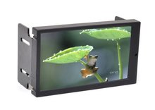 "6.95"" Double DIN Touch Screen VGA Monitor with AV2 Reverse Camera for Car PC(China)"