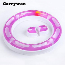 Carrywon Cats IQ Training Funny Game Multiple Shape Combine Toys Pets Track Cat Kitten Play Ball Chase Execise Toy Tool(China)