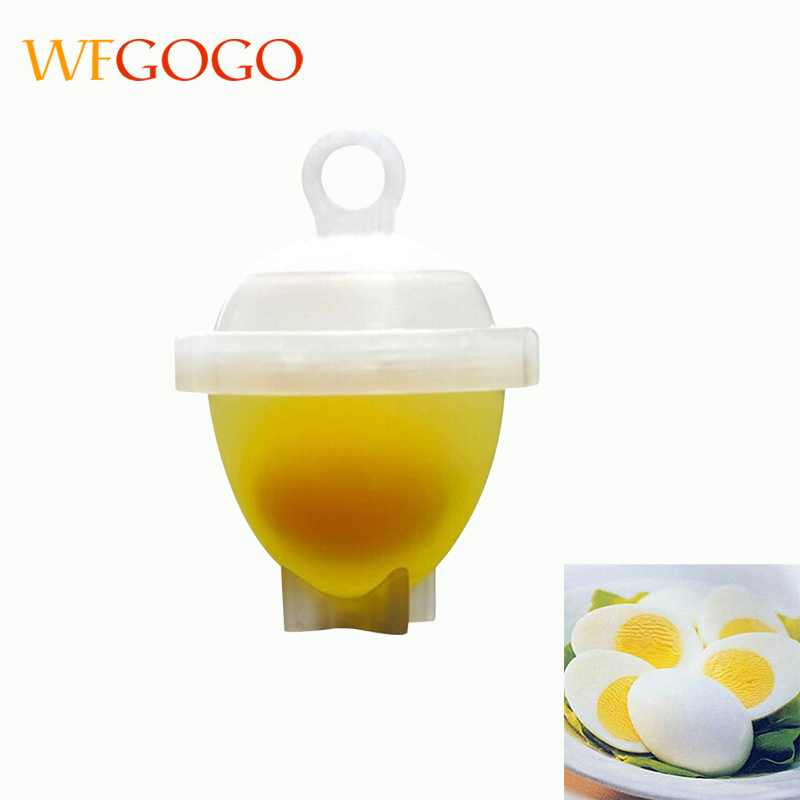 WFGOGO 7pcs/Set Hard Boil Eggs tools Without Shells + Egg Separator Kitchen Accessories Cooking Tools plastic form Cooker Tool