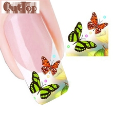 OutTop 1pc Nail Tip Art Transfers Decal Sticker Nial Sticker Nail art decoration fit all fingernails OCT27