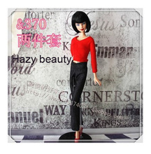 Hazy beauty New styles Festival Gifts for choose Top+trousers lifestyle Suit Casual Clothes Trousers For Barbie Doll BBI00389(China)