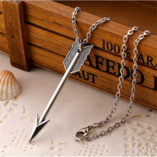 NK2087 New Fashion Steampunk Minimalist Rock Vintage Arrow Pendant Chain Necklace For Women Jewelry Gift Men Clavicle Collier