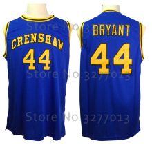2018 Crenshaw High School Movie Love #44 BRYANT Jersey Throwback Basketball Jerseys Retro Vintage Stitched Blue Shirts For Men(China)