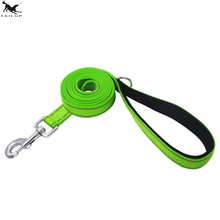 [TAILUP] Strong Dogs Leashes 180cm Nylon Reflective Big Dogs Collar Leash Rope Pet Dog Vest Leads Rope with Handle CL107green(China)