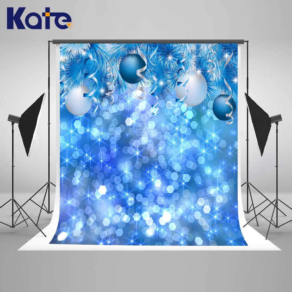 Kate Blue Christmas Photography Backdrops 10x10ft Bokeh Bright Princess Backdrop Happy New Year Washable Photo Background<br>