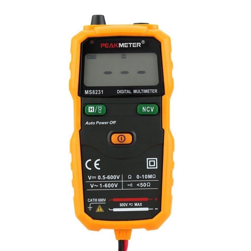 MS8231 2000 Counts Auto LCD Digital Multimeter DC/AC Voltage Current Resistance Tester Ammeter Multitester<br><br>Aliexpress