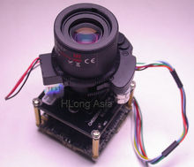 "H.265 (4.0MP) 6 -22mm Motorized Zoom & Auto Focal LEN 1/3"" Omnivision OV4689 +Hi3516 CCTV IP camera module board with LAN cable"