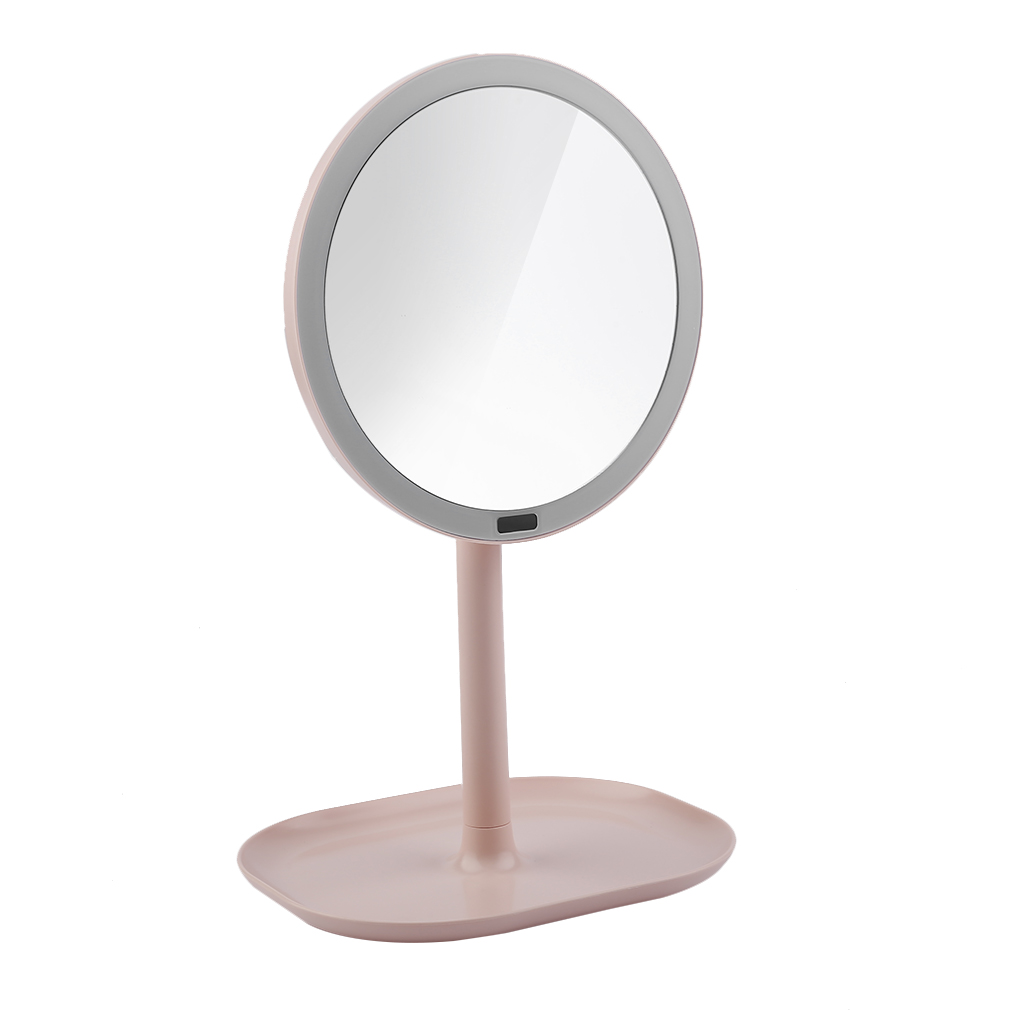 New 7X 30PCs Magnifying Makeup Rechargeable Motion Sensor LED Light Mirror USB 360 Rotation Vanity Mirror Infrared Induction<br>