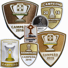 New CONMEBOL Sudamericana 2017 Brazil CAMPEON 2016 patch football Print patches badges,Soccer Hot stamping Patch Badges(China)