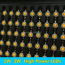 100 PCS 1W 3W LED Diode Chip High Power LEDs Light Source white warm red green yellow orange purple ice blue full spectrum 45mil