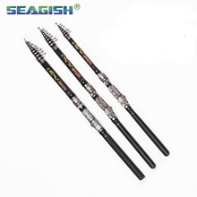 Seagish Pa 1.8m 2.1m 2.4m Sea Fishing Rods Pocket Short Sea Dual Carbon Angeles Fishing Rod Hand Lever FA1006
