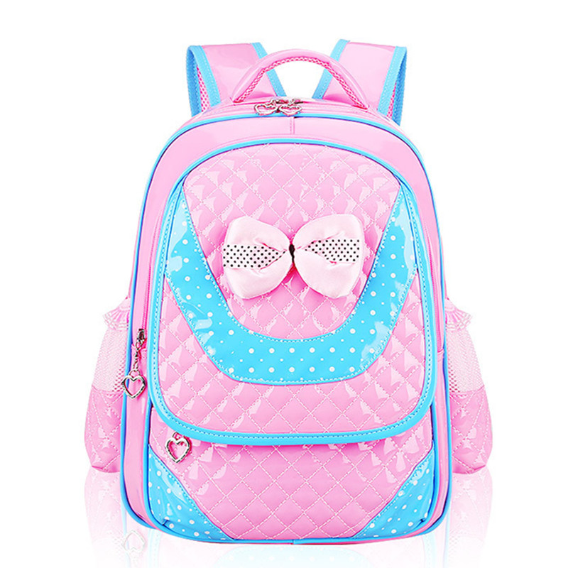 Hot new 2017 PU Leather girls school bag good quality children school bags &amp; kids backpack Grades 1-3-6 Q1<br><br>Aliexpress
