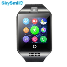 10PCS Bluetooth NFC Smart Watches Q18 Smartwatch Whatsapp Wristband For IPhone Phone Clock Sync Support SIM Card GMS 8G TF Card