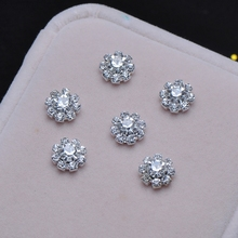 (S0019)10pcs/lot, 8mm diameter crystal embellishment, stuning products,silver or gold plating,flat back(China)