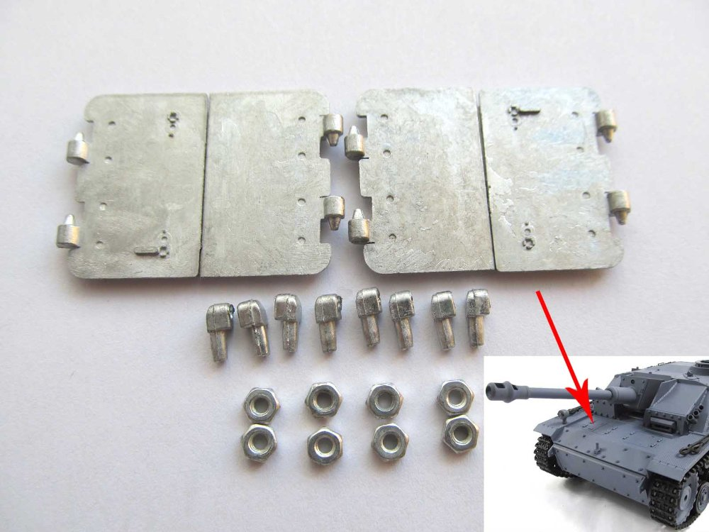 Mato Metal driver &amp; transmission inspection hatch  for  1/16 1:16 RC Stug III tank,metal upgraded parts<br><br>Aliexpress
