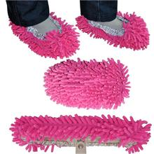 Cute Slipper Lazy Shoes Cover Dust House Bathroom Floor Cleaning Mop Cleaner 1Pair free shipping ZH129