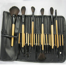 24pcs/Sets Europe And The United States Wind Spot 24 natural Black Wooden Handle Classic Makeup Brush With a package(China)
