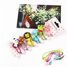 6pcs/lot GG & MM Children 's jewelry hair accessories wholesale cartoon lions and other small animals hair ring hair rope suits