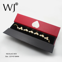 Craft Long Gift Jewellery Necklace Bracelet Display Box Case Pearl Chain Holder Jewelry Presentation Storage Organizer Casket
