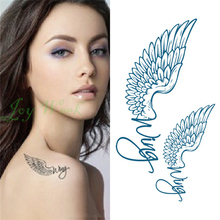 Waterproof Temporary Tattoo Sticker on body art angel wings tattoo Transfer sexy flash tatoo fake tattoos for girl women