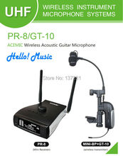 Hot AIBIERTE ACEMIC PR-8/GT-10 Professional stage true diversity wireless guitar micorphone system use for Acoustic guitar