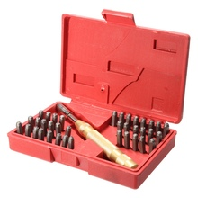Buy 38Pcs Automatic Letter Number Stamping Metal Punch Stamp Set Tool Kit Plastics Leather Mark Metal Punch Imprint Stamping Die for $16.99 in AliExpress store
