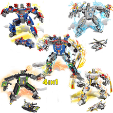 Hot super Transformation robot Last nexus knights Ride 4in1 building block clay lance macy aaron figures bricks toys boy - ToysKingdom store