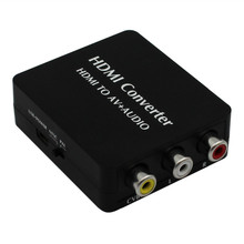 New HDMI2AV HDMI to AV + Audio Converter Support SPDIF Coaxial Audio NTSC PAL CVBS Composite Video & FL/FR Stereo Audio Signal(China)