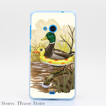 1074CA DUCK IN TRAINING Hard Transparent Clear Case for Microsoft Nokia Lumia 535 630 640 640XL 730 Cover