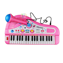 Children Piano Toys 37 Keys Mini Electronic Keyboard with Microphone Musical Instrument Baby Electone Piano For Kids Gifts(China)