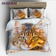 AHSNME Cute Cat Rey ropa de cama Cat on the floor High-definition Print Quilt Cover Multi-Country Size AU/UA/EU/RU Bedding(China)