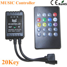 LED Music IR Controller 12V 6A 20 Keys IR Remote Controllers for 3528 5050 RGB LED Strip Lights Mini Controller(China)