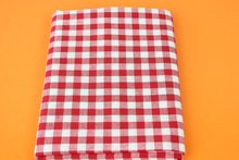 50x150cm Cotton Red Check Plaid Fabric Cloth DIY Handmade Sewing Patchwork Sofa Pillow Cover Curtain Tablecloth Wallet Bag