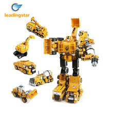 LeadingStar Transformation Car Robot Model Alloy Construction Vehicles Manual Operated zk30(China)