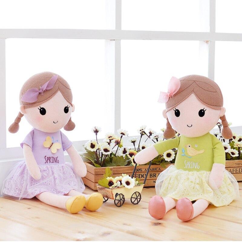 Plush Cartoon Girls Dolls Fashion Soft Stuffed Fantasy Toys Wearing Dress Best Gifts for Kids Birthday for Girls 42*17cm<br><br>Aliexpress