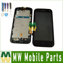 Black Color 1PC/ Lot High quality For ZTE Blade Q Lux 4G 3G LCD Display+Touch Screen with frame/without frame Assembly Digitizer(China)