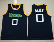 #0 Alien Monstars Dark Blue Embroidery Stitched Basketball Jersey