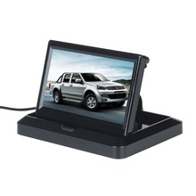 "5 inch HD (800*480) Foldable TFT LCD 16:9 Digital Display Screen Car Rearview Monitor For Backup Camera 5"" Vedio DVR VCD Monitor"