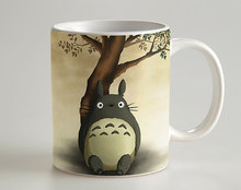 Cute My Neighbor Totoro cool photo morphing coffee mugs transforming morph mug heat changing color ceramic Tea Cups cup(China)