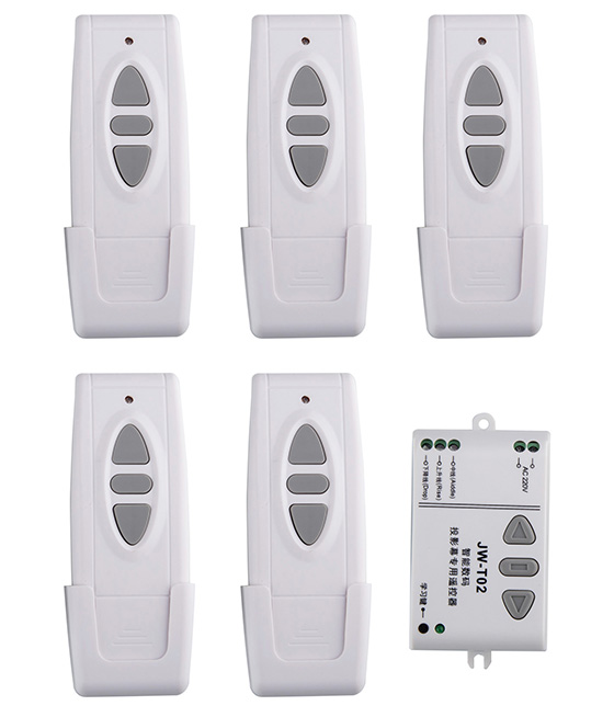 AC220V  Motor Remote Controller Motor Wireless Remote Control Switch System UP Down StopTubular Motor Controller Forward Reverse<br>