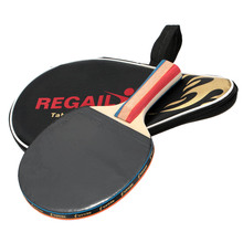 REGAIL 1pc Long Handle Shake-hand Professional Table Tennis Rackets Ping Pong Pingpong Racket Paddle Bat with Case Bag(China)