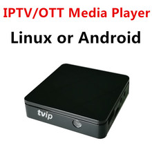 Original mini Set Top Box of TVIP V410 V412 Box Linux or Android 4.4 Double System support H.265 4K quad core tvip 410